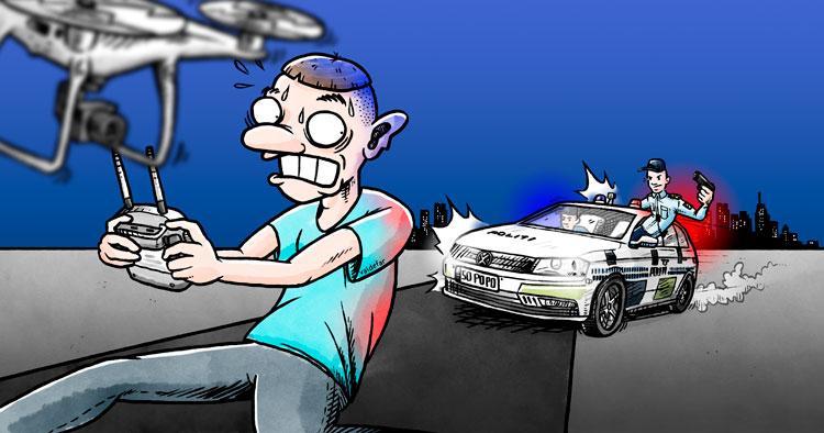 Politi droner